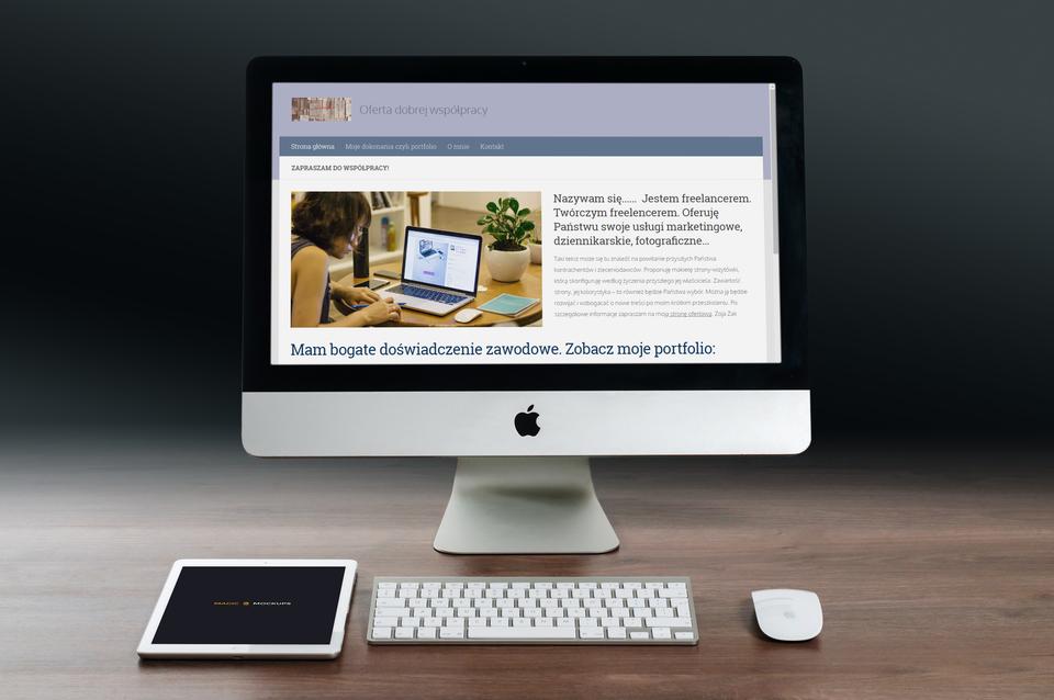 Propozycja strony wizytówki dla freelancera